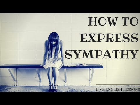 How To Express Sympathy In English | Live English Lessons