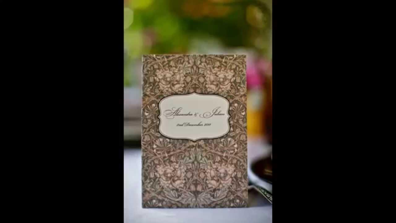 Decoracion Matrimonio Vintage ~ Invitaciones de Boda Estilo Vintage  YouTube