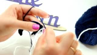 Видеоурок вязания от Fineyarn #2 Смена цвета нити при вязании крючком в середине ряда