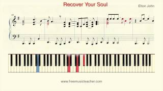 """How To Play Piano: Elton John """"Recover Your Soul"""" Piano Tutorial by Ramin Yousefi"""