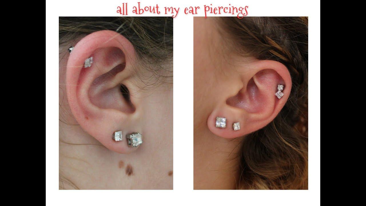 My Ear Piercings. Experiences, Pain, Care - YouTube