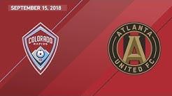 HIGHLIGHTS: Colorado Rapids vs. Atlanta United FC | September 15, 2018
