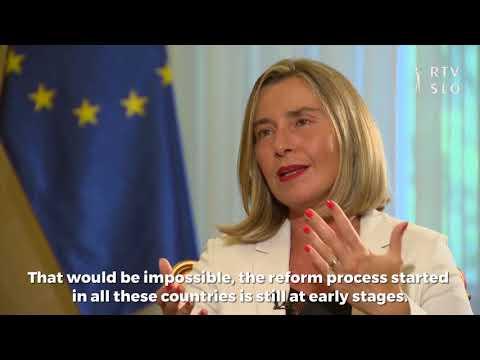 Federica Mogherini on RTV Slovenia