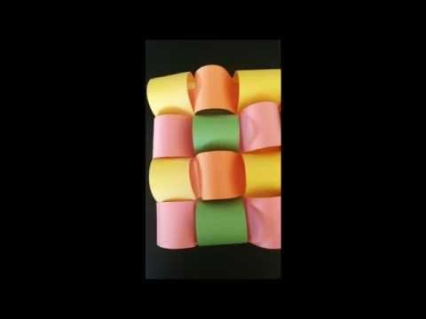 3D Paper Weaving DIY