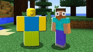Playing ROBLOX in MINECRAFT!?