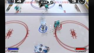 NHL Hitz 2002 Gameplay - Canucks vs Sharks
