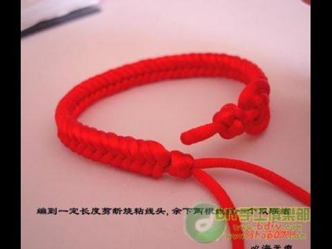 квадратный узел браслет из шнурков