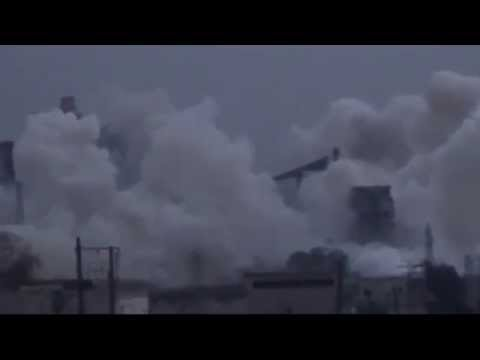 HEAVY ISIS shelling against cement factory, Syria, Aleppo - ИГИЛ атакует цементную фабрику в Алеппо