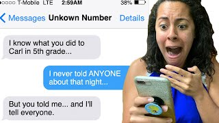 A SCARY UNKOWN NUMBER Texted Me ALL MY SECRETS!!! *Do I Have A Stalker WATCHING MY HOUSE?!*