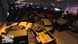 Grand Theft Auto V biggest pile up explosions ps4