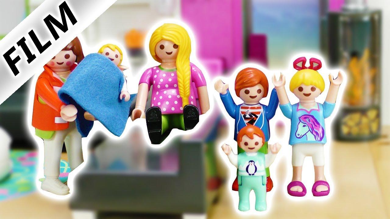 Playmobil Film Deutsch Geburt Bei Familie Vogel Zuhause Babysitterin Bekommt Baby Kinderserie