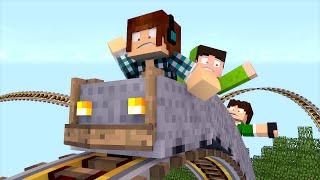 Minecraft Mod: Montanha Russa REALISTAS (Faça Looping )!! - Roller Coaster Mod