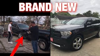 I CRASHED MY DAD'S TRUCK PRANK ( HE CHASES ME ) * RAGES  😳😢