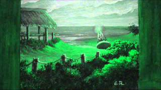 Pinturas acrílicas, con paisajes marinos.