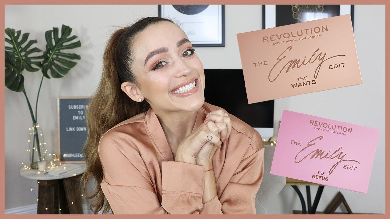 THE EMILY EDIT PALETTES | Look + Swatches - MAKEUP REVOLUTION X EMILYNOEL