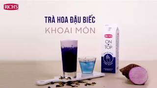 How to make Butterfly Tea with Taro Foam