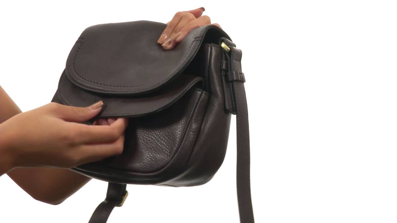 Fossil Peyton Small Double Flap Crossbody Sku8841740 Youtube Kinley Brown