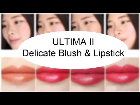 ultima-ii-delicate-blush-&-lipstick