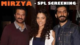 Celebs at Mirzya Special Screening - Harshvardhan Kapoor, Saiyami Khe || Rakeysh Omprakash Mehra