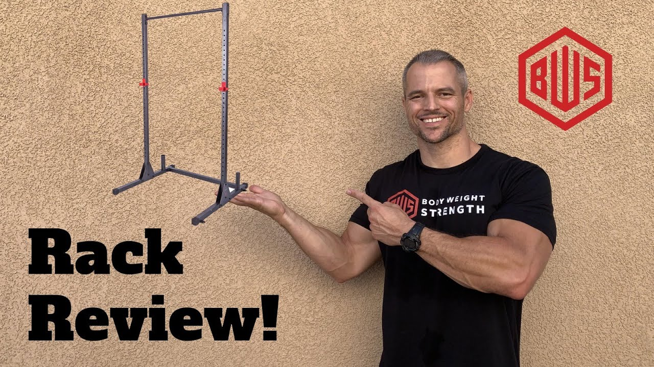 review pull up bar squat rack by cap strength