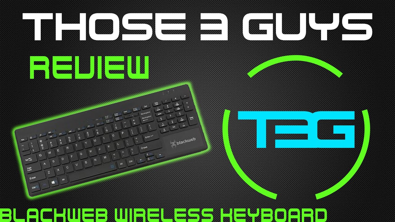 blackweb wireless touch all in one keyboard review youtube