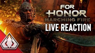 FOR HONOR: MARCHING FIRE E3 TRAILER LIVE REACTION!! NEW WU LIN FACTION!! NEW PVP GAME MODE: BREACH
