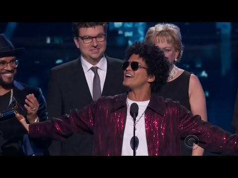 Bruno Mars has a magical night at Grammys