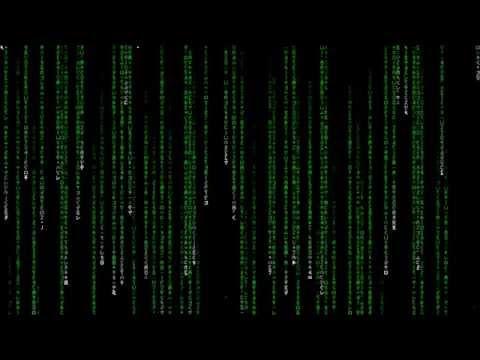 1 Hour Matrix Rain Code