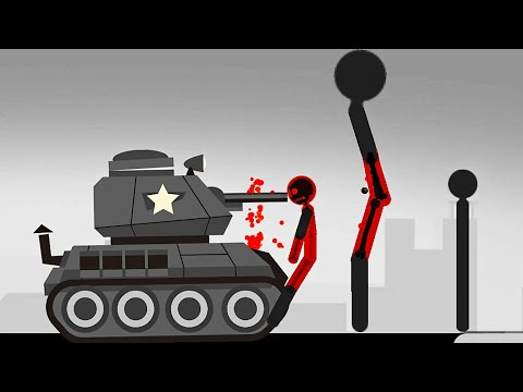 Stickman Destruction Ragdoll Annihilation - TANK Vs STICKMAN | Android Gameplay