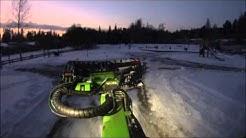Ristikiven leikkipuiston auraus Avantilla. Kuokkala, Jyväskylä