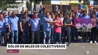 El dolor de los colectiveros por la muerte de Leandro - El Noticiero de la Gente