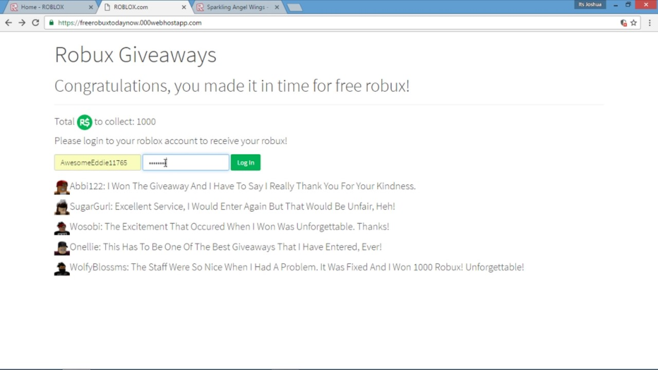 how to get free robux no joke 2016