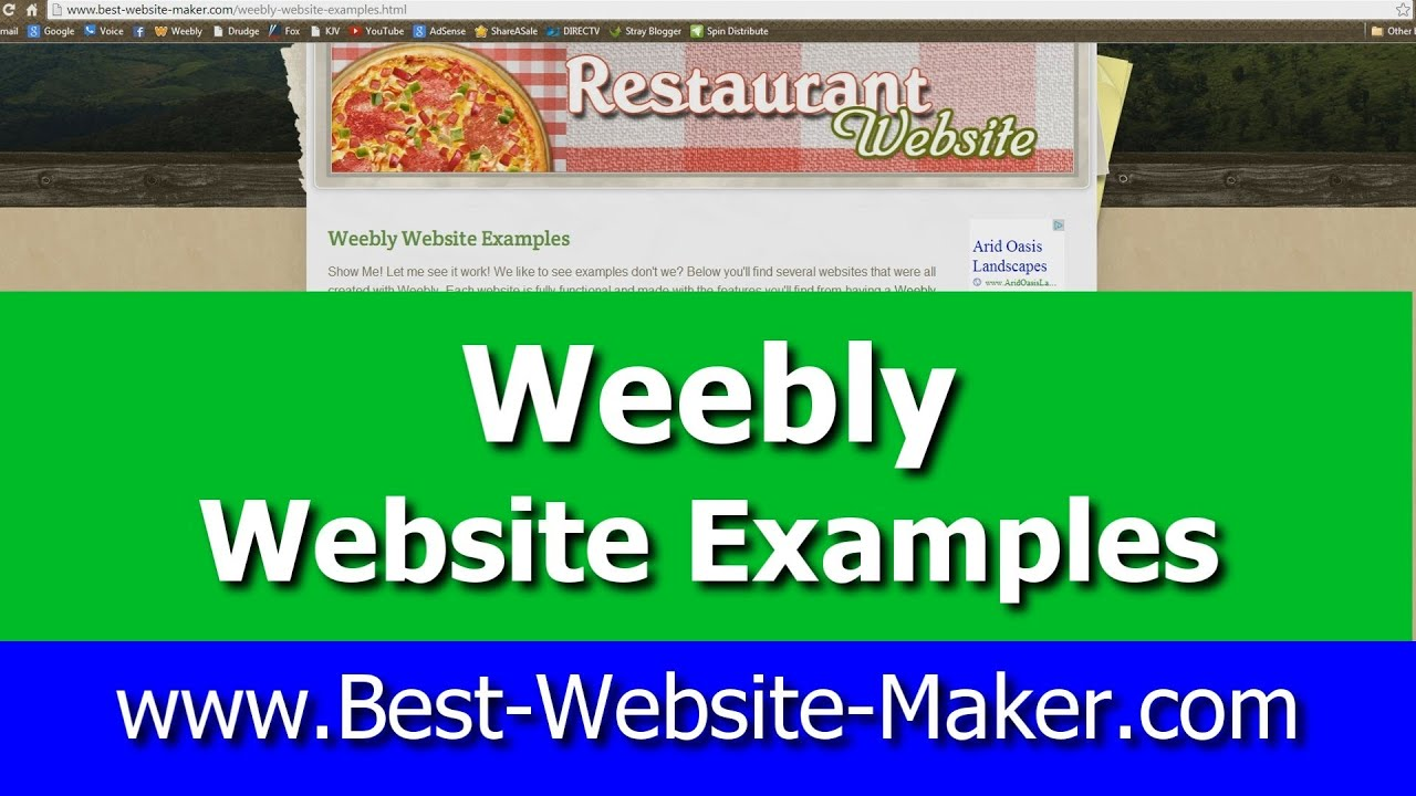 Weebly Website Examples Best Website Maker Youtube