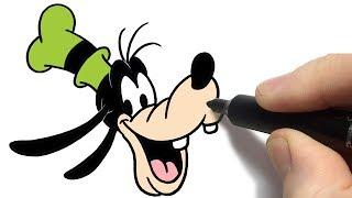 Como Desenhar o Pateta  da Disney  Passo a Passo