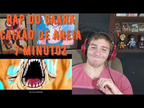 REACT RAP DO GAARA (NARUTO) CAIXÃO DE AREIA! NERD HITS - @7Minutoz