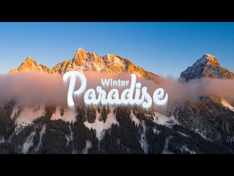 WINTER PARADISE in the Swiss Alps - Drone Hyperlapse