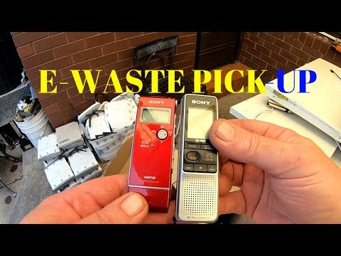 E-Waste Pick Up Adventures - Two Jobs for the day