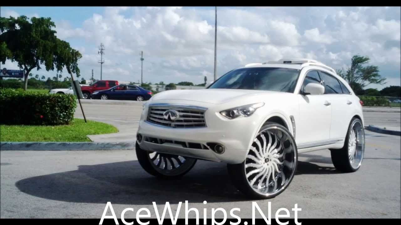 Acewhips ads white 2013 infiniti fx on 32 amanis slidin net ads white 2013 infiniti fx on 32 amanis slidin youtube vanachro Choice Image