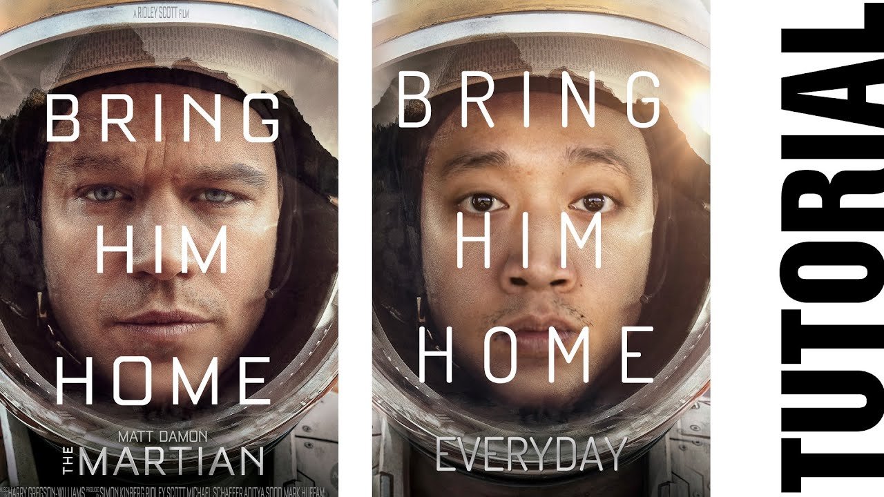 how to create movie posters the martian tutorial