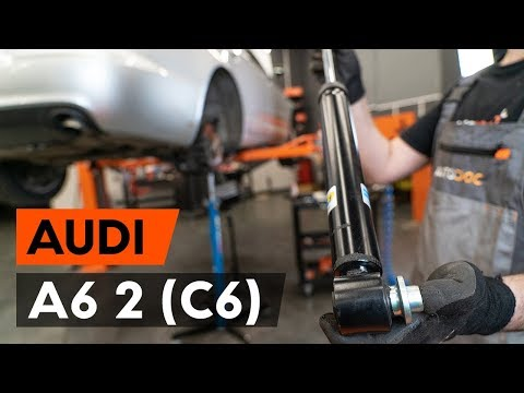 How to replace rear shock absorber on AUDI A6 2 (C6)  [TUTORIAL AUTODOC]