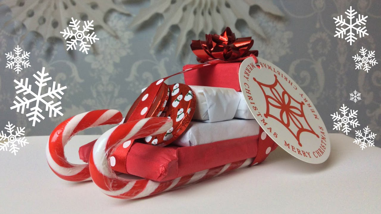 how to hand made candy sleigh christmas gift youtube - Christmas Candy Sleigh