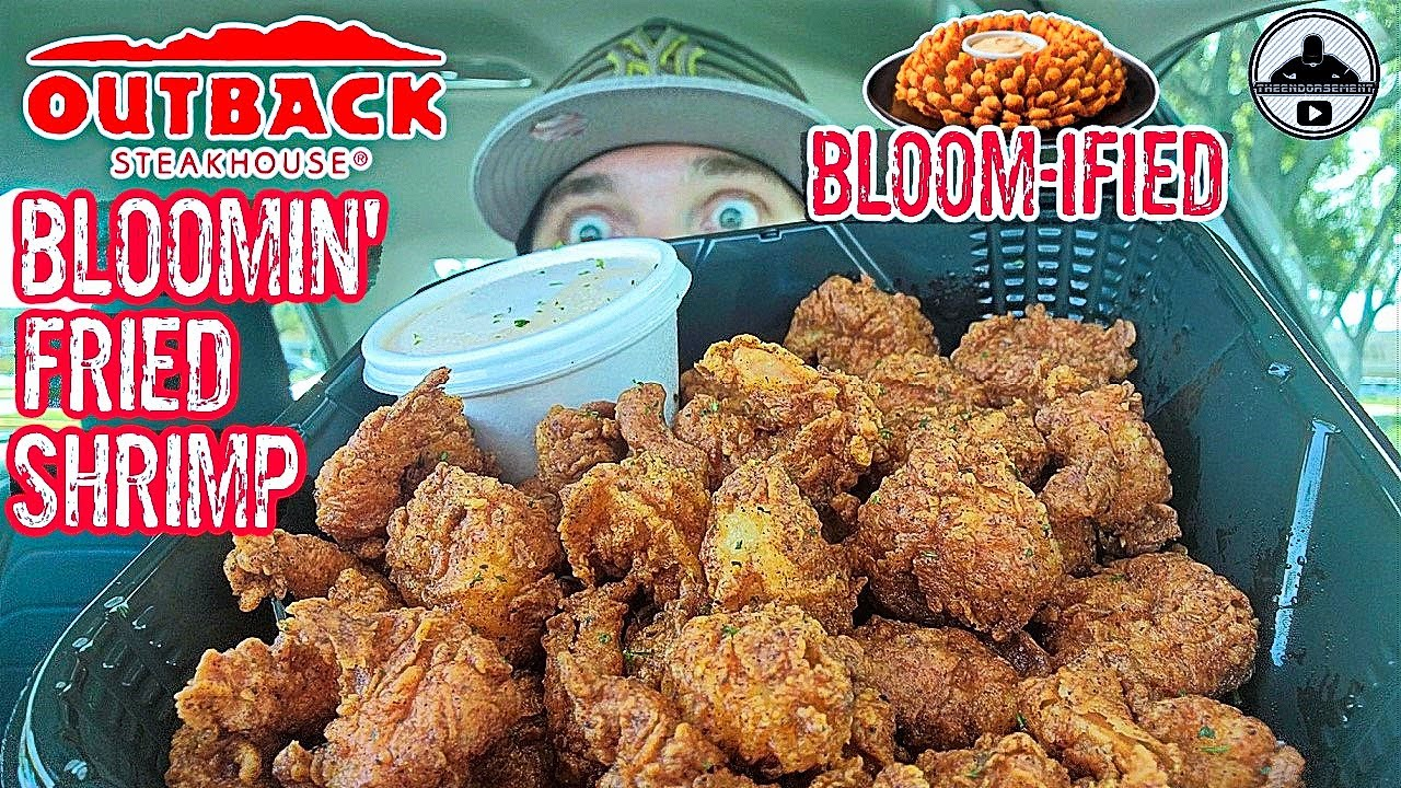 Outback Steakhouse Bloomin Fried Shrimp Review Theendorsement Youtube