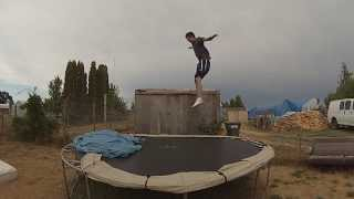 sideflip to backflip, double frontflip, frontflip 180 to backflip