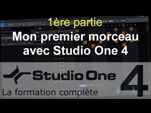 Formation Studio One 4 - C04: Mon premier morceau avec Studio One (1/3)