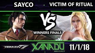 F@X 274 Tekken 7 - DPS | Sayco (Dragunov) Vs. TCOL | Victim of Ritual (Nina) - T7 Winners Finals