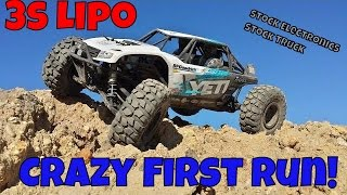Axial Yeti 2.2 Rock Racer - 3S Lipo Crazy First Run!