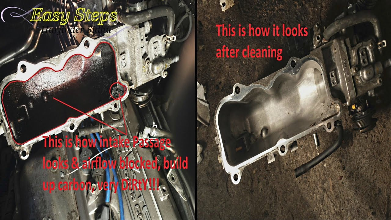 how to fix egr low flow code p0401 on honda accord clean clogged egr intake passage way [ 1280 x 720 Pixel ]