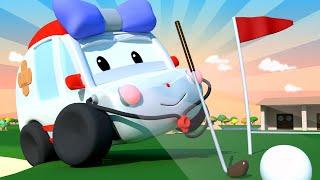 Die winzige Stadt -  Golf spielen - Lerne mit den kleinen Trucks 👶 🚚 Lehrreiche Cartoons für Kinder