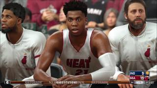 NBA 2K17 - Indiana Pacers vs Miami Heat | Gameplay (PC HD) [1080p60FPS]