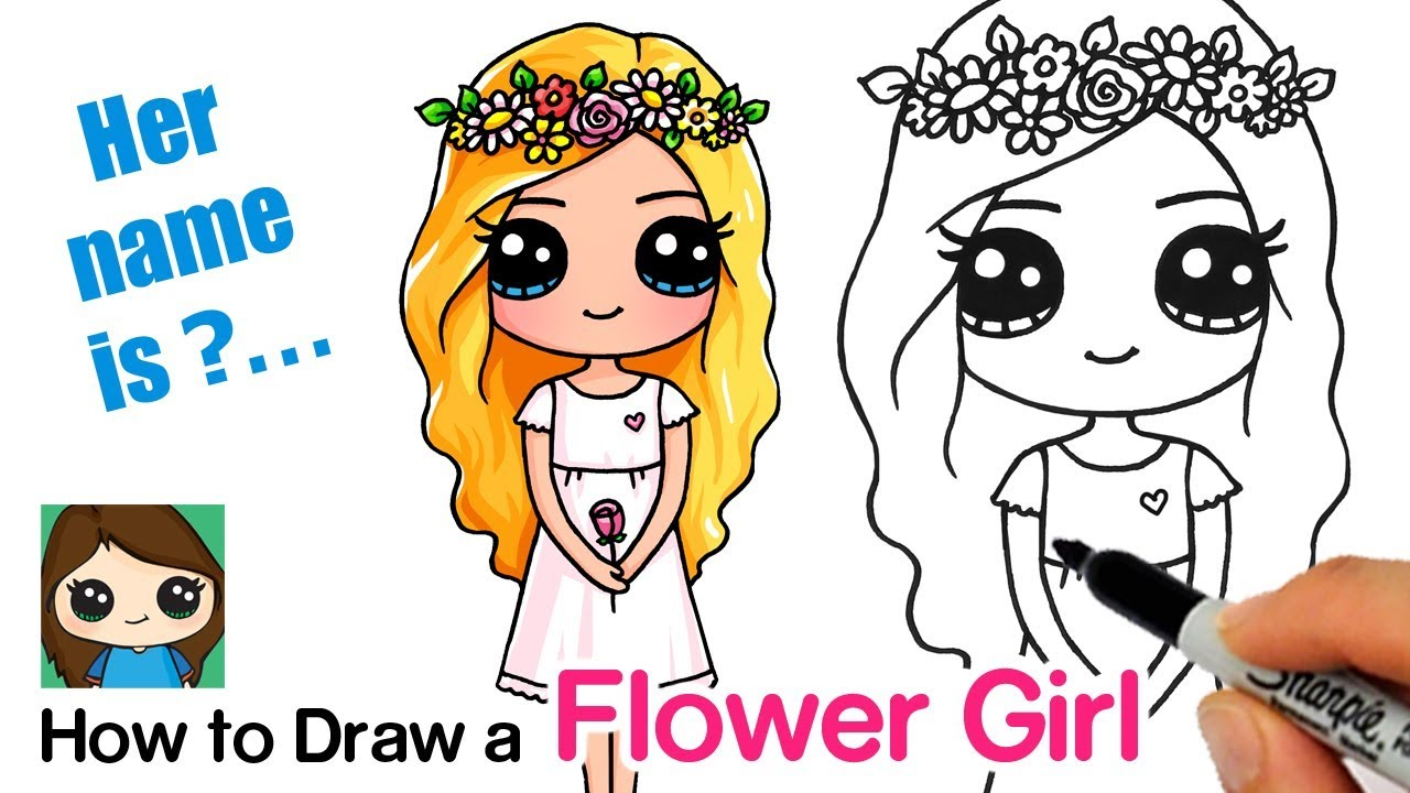 How To Draw A Flower Cute Girl Snapchat Flower Crown Filter Youtube
